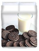 Cookies And Milk Duvet Cover