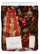 Cookies And Milk For Santa Duvet Cover
