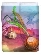 Cooking In Spain Duvet Cover