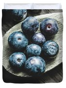 Cooking With Blueberries Duvet Cover