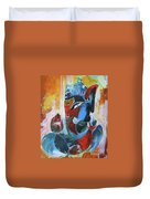 Cool And Graphical Lord Ganesha Duvet Cover