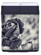 Cool Black Rose Duvet Cover