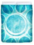 Cool Blue Flower Duvet Cover