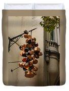 Cool Copper Pots - Parisian Restaurant Left Bank La Rive Gauche Duvet Cover