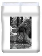 Cool Drink Of Water  Black And White  T O C Duvet Cover