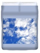 Cool Face In The Blue Sky Duvet Cover