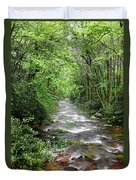 Cool Green Stream Duvet Cover