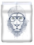 Cool Lion Duvet Cover by Balazs Solti