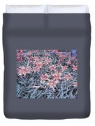 Cool Sunset Field Of Tiger Lillies Duvet Cover