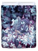 Cool Sunset Jasmine In Bloom Duvet Cover