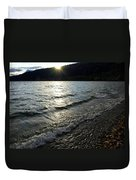 Cool Waters Sunset Duvet Cover