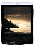 Coors Field At Sunset Duvet Cover
