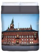 Copenhagen City Hall By Night Duvet Cover