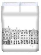 Copenhagen City Scene Duvet Cover