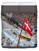 Copenhagen Downtown Traffic Duvet Cover