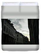 Copenhagen Facades In Shades Of Grey Duvet Cover