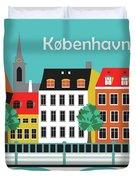 Copenhagen Kobenhavn Denmark Horizontal Scene Duvet Cover