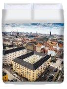 Copenhagen Skyline And Towers Duvet Cover