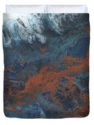 Copper Abstract 2 Duvet Cover