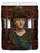 Copper Bust In Rome Duvet Cover