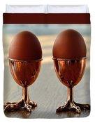 Copper Chicken Feet Egg Cups Duvet Cover