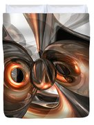 Copper Dreams Abstract Duvet Cover
