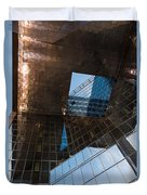 Copper Glass And Steel Geometry - Fabulous Modern Architecture In London U K Duvet Cover