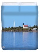 Copper Harbor Lighthouse Duvet Cover