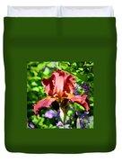 Copper Iris Squared 5 Duvet Cover