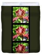 Copper Iris Triptych Squared Duvet Cover
