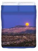 Copper Moon Rising Over The Santa Rita Duvet Cover