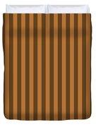 Copper Orange Striped Pattern Design Duvet Cover