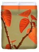 Copper Plant Duvet Cover