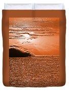 Copper Plate Sunrise Duvet Cover