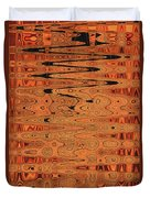 Copper Plates Double Abstract Duvet Cover