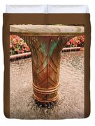 Copper Water Fountain Duvet Cover
