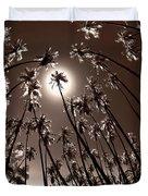 Coppertone Palms Duvet Cover