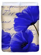 Coquelicots Bleue Duvet Cover
