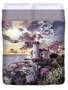 Coquille River Lighthouse 2 Duvet Cover