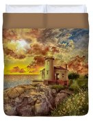 Coquille River Lighthouse 4 Duvet Cover