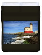 Coquille River Lighthouse At Bandon Duvet Cover