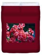 Coral Azaleas Duvet Cover