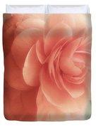 Peach Petals Glow Duvet Cover