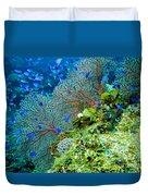 Coral In Truk Duvet Cover