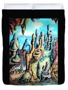 Coral Island, Stone City Of Alien Civilization Duvet Cover