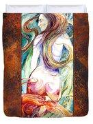 Coral Mermaid Duvet Cover