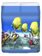Coral Moods Duvet Cover by Corey Ford