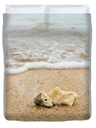 Coral On The Beach Duvet Cover