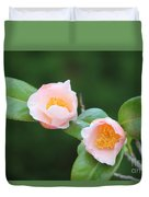 Coral Camellia 2 Duvet Cover