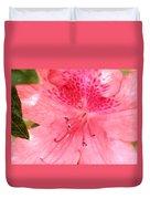 Coral Pink Azalea Goodness Duvet Cover